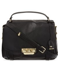 Juicy Couture Rockstar Leather Medium Satchel Black - Lyst