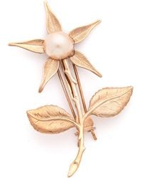 Dauphines of New York | Forget Me Not Barrette - Rose Gold/pearl | Lyst