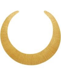 Herve Van Der Straeten Gold-Plated Curved Collar Necklace - Lyst