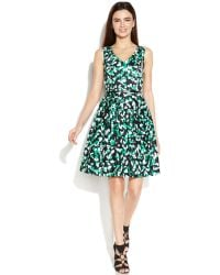 Calvin Klein Graphic-Print Belted Dress - Lyst