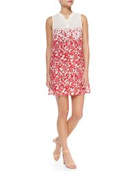 Tory Burch Issy Floral Print Voile Sundress - Lyst