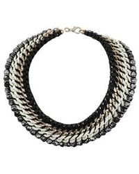 Topshop Chain Faceted Bead Collar - Lyst