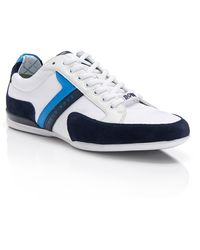 Boss Green Spacit  Leather and Suede Sneakers - Lyst