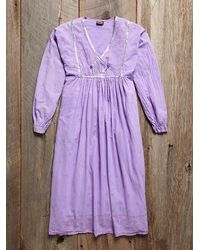 Free People Vintage Cotton and Gauze Dress - Lyst