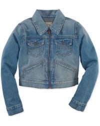 Ralph Lauren Girls' Denim Trucker Coat blue - Lyst