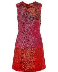 Saint Laurent Sequined Silk-georgette Mini Dress - Lyst