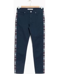& Other Stories - Embroidered Panel Jeans - Lyst