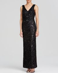 Sue Wong Gown - Sleeveless V-Neck Beaded Lace - Lyst