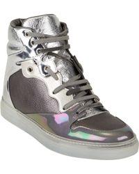 Balenciaga Metallic Multi-Material Sneakers - Lyst