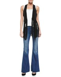 Neiman Marcus - Majorelle Distressed Flare Jeans - Lyst