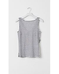 Band of Outsiders Criss Cross Back Tank blue - Lyst