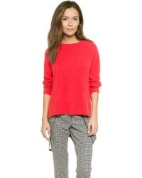 Rachel Zoe Lera Boxy Banded Low Sweater - Poppy - Lyst