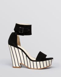 See By Chloé Platform Wedge Sandals Cutout - Lyst