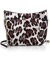Jimmy Choo Anabel Leopard Calf Hair Crossbody Bag - Lyst