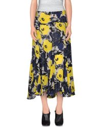 Dries Van Noten 3/4 Length Skirt yellow - Lyst