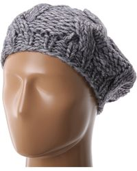 San Diego Hat Company Knh3228 Cable Knit Beret - Lyst