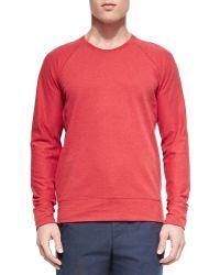 Vince Sueded Lightweight Fleece Crewneck Sweater - Lyst