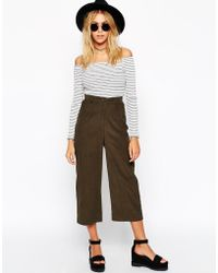 Asos Reclaimed Vintage Cord Culottes - Lyst