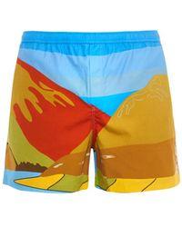 JW Anderson - Landscape-Print Swim Shorts - Lyst