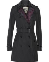 Burberry | Jacquard-Paneled Cotton-Gabardine Trench Coat | Lyst