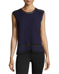 L.a.m.b. Bonded Sleeveless Sweater - Lyst