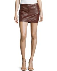 Haute Hippie Leather Mini Skirt - Lyst