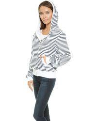 Wildfox Malibu Stripe Zip Up Hoodie  Sailor Stripe - Lyst