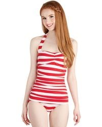 Esther Williams Swimwear Snack Bar Beauty One-Piece Swimsuit In Red - Lyst