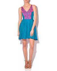 Amanda Uprichard Amanda Uprchard Embroidered X-Back Dress - Lyst