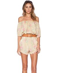 Spell & The Gypsy Collective - Sundance Off The Shoulder Romper - Lyst
