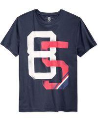 Tommy Hilfiger Graphic T-Shirt blue - Lyst