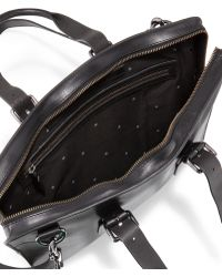 John Varvatos - Hallowell Leather Briefcase - Lyst