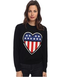 Love Moschino Americana Long Sleeve Sweater - Lyst