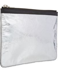 Proenza Schouler Metallic Medium Zip Pouch - Lyst