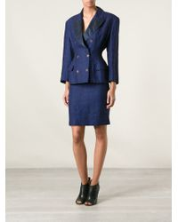 Jean Paul Gaultier Fitted Skirt Suit - Lyst