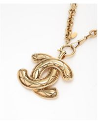 Chanel Pre-Owned Necklace - Lyst