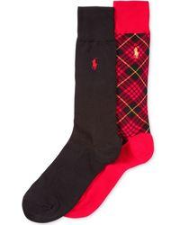 Ralph Lauren Polo Mens Holiday Tartan Dress Crew Socks 2-pack - Lyst