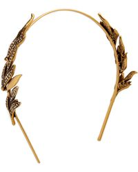 Oscar de la Renta - Pave Spike Tiara - Cry Gold Shadow - Lyst