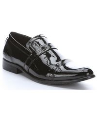 Kenneth Cole Reaction Black Patent Leather 'Suit Up' Slip-On Loafers - Lyst