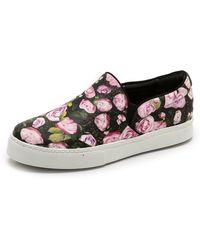 Schutz Rosa Slip On Sneakers  Flower Mixblack - Lyst
