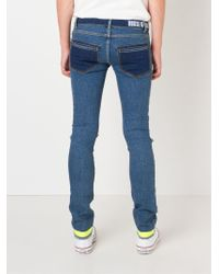 House of Holland - Skinny Panelled Jeans - Lyst