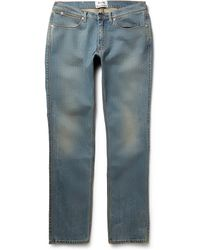 Acne Studios Max Prince Slim-Fit Washed Denim Jeans - Lyst