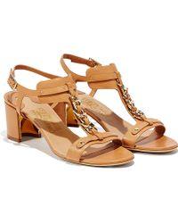 Ferragamo Gancio Chain T-Strap Sandal - Lyst