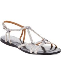 Report Signature Sarasota Embellished Flat Sandals silver - Lyst
