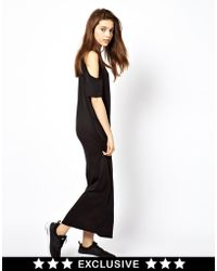 Cheap Monday Cold Shoulder Maxi Dress - Lyst