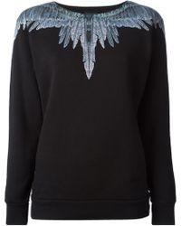 Marcelo Burlon County Of Milan Feather Print Sweatshirt - Lyst
