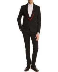 McQ by Alexander McQueen Seamed Black Suit Trousers - Lyst