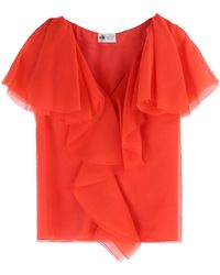 Lanvin Blouse red - Lyst