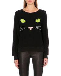 Wildfox Black Cat Jersey Jumper - Lyst