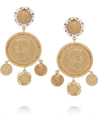 Dolce & Gabbana Goldtone Coin Clip Earrings - Lyst